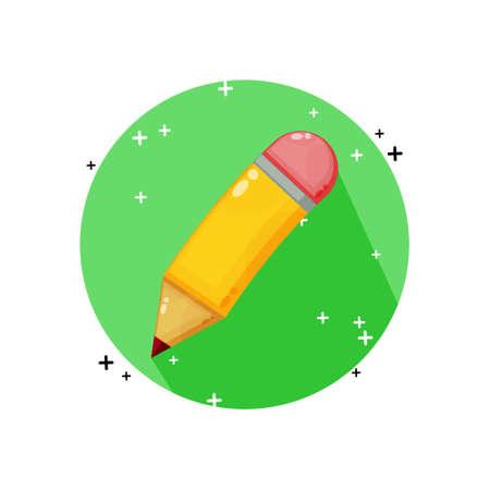 Pencil icon vector design Illusztráció