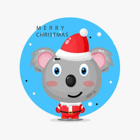 cute koala wearing a Santa uniform Illusztráció