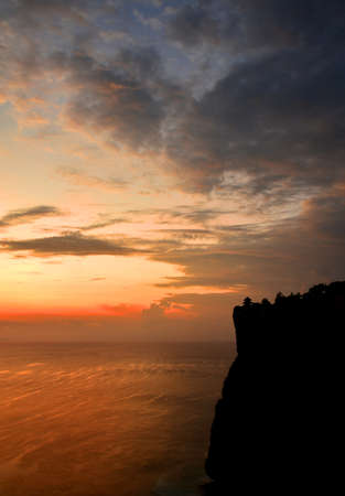 Uluwatu temple in Bali-Indonesia, during afternoon light with beautiful sky color