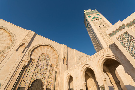 The Great Hassan II Mosque in Casablanca, Morocco Reklamní fotografie