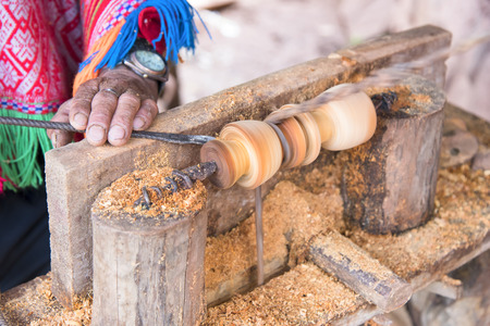 craftmanship: Close up a wood craftmanship made by carpenter
