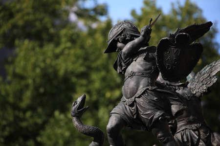 slaying: Dragon slaying angle at base of Marienplatz statue