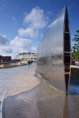 water feature: Water feature, Sheffield station Stock Photo