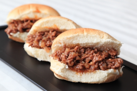 sloppy: Sloppy Joe Sliders Stock Photo