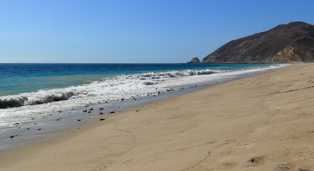 thornhill: Looking northwest along the shore at Thornhill Broome Beach, Malibu, California. Stock Photo