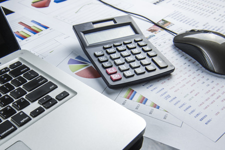 calcul d'affaires de la finance Banque d'images