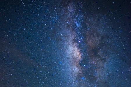 Une section de la Voie Lactée et la galaxie d'Andromède