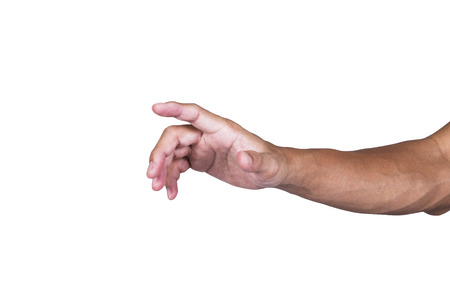 interdigital: hand on white background