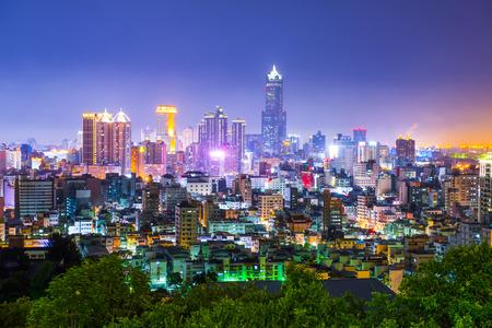 대만에서 도시의보기 - 가오슝 스톡 콘텐츠