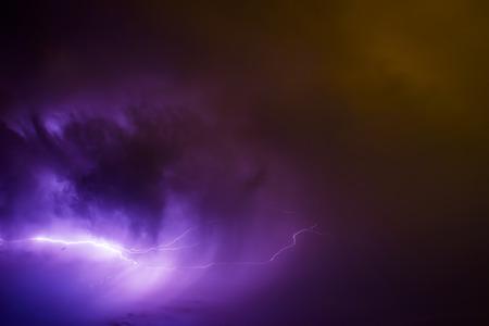 Big storm bringing thunder, lightnings and rain. photo