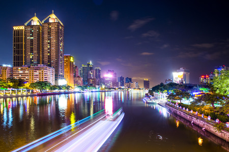 Night view of the city in Kaohsiung - Taiwan photo