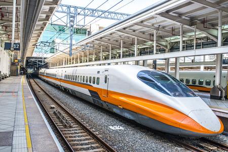 La estación de tren de alta velocidad de Taiwán