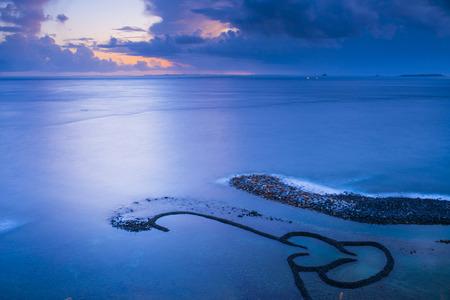 Zee en lucht in Penghu - Taiwan Stockfoto