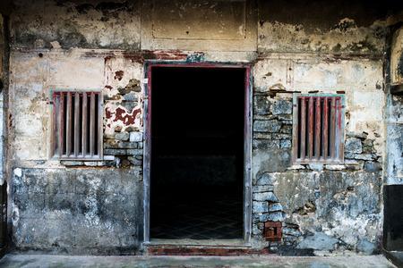 in disrepair: L'edificio tradizionale � caduto in rovina in Taiwan, Penghu