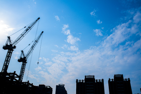 construction safety: Construction site. Stock Photo
