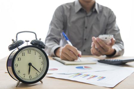 Personnes Bureau affaires travaillant des heures supplémentaires Banque d'images