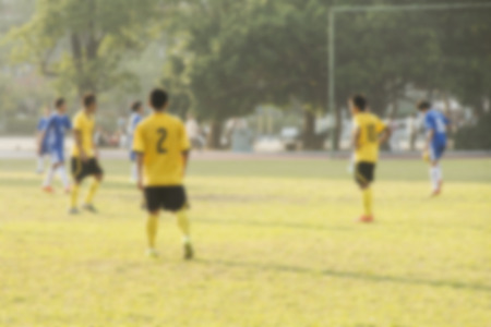 vague: Abstract blurred background of sports -soccer Stock Photo