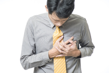 Businessman forte attaque cardiaque