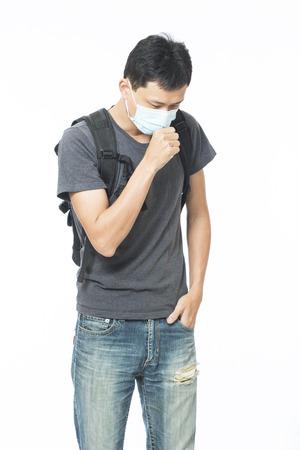 L'homme porte un masque Banque d'images