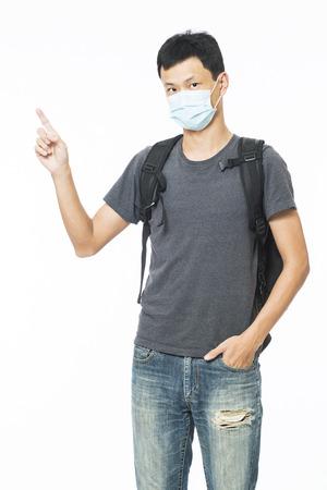tightness: Man wears mask