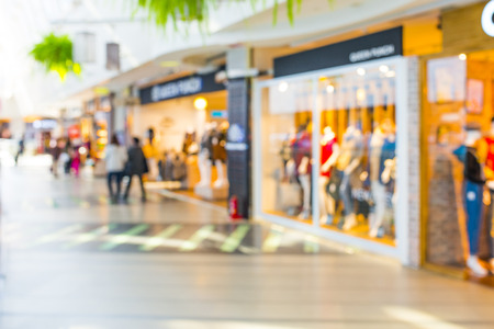 comprando: Resumen de antecedentes de centro comercial, profundidad de foco. Foto de archivo