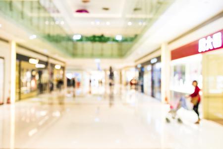 Résumé de fond de centre commercial, la profondeur de mise au point.