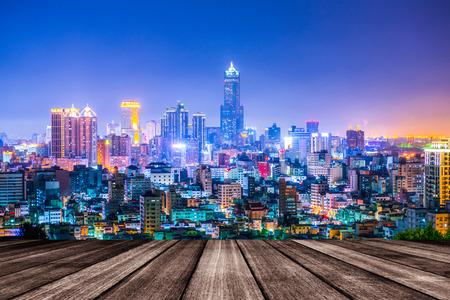 Nacht uitzicht van de stad in Taiwan - Kaohsiung