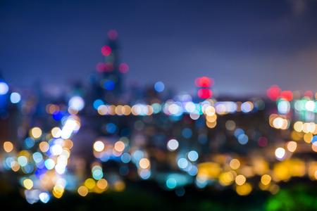 focus on: Decorative neon lights in soft focus.