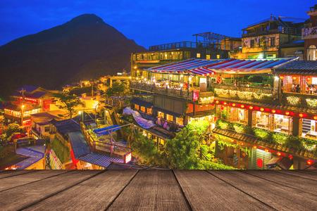 nachtscène van Jioufen dorp, Taipei, Taiwan Stockfoto