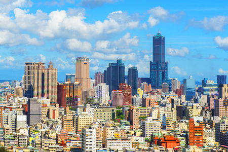 view of the city in Kaohsiung Taiwan Stock Photo