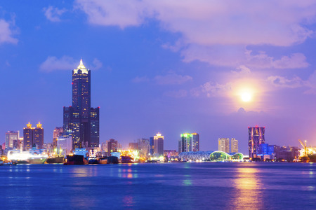 Night view of the city in Taiwan - Kaohsiung Banque d'images