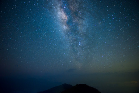 star night: A section from the Milky Way and the Andromeda Galaxy