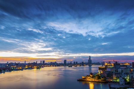 de stad Kaohsiung - Taiwan Stockfoto