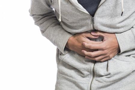 Homme souffrant de douleurs à l'estomac Banque d'images - 44011985