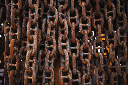 rusty chain: old rusty chain isolated Stock Photo