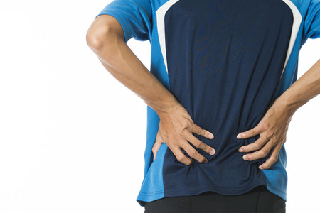 muscle cramp: Man muscle soreness occupational