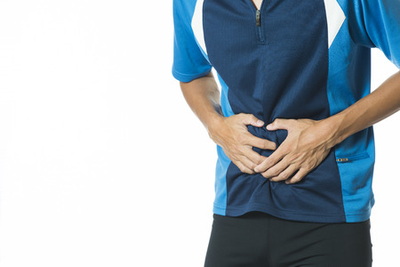 flatulence: Man suffering from stomach pain
