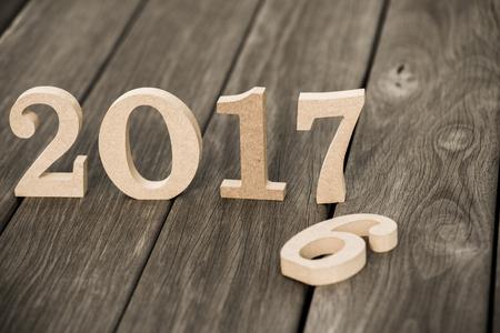 2017 numéros de bois Banque d'images