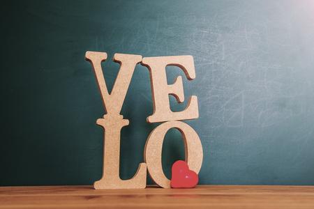 egoistic: Love message written in wooden blocks Stock Photo
