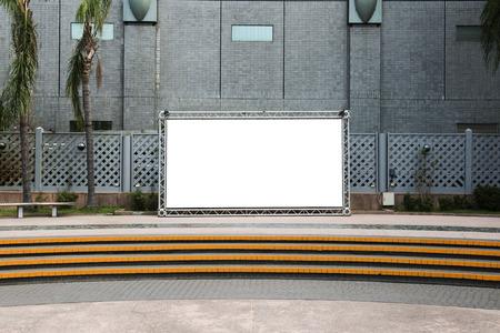 billboard: blank billboard on the city street