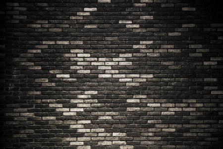 tile floor: Dark room with tile floor and brick wall background