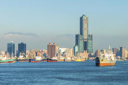 uitzicht op de stad in Taiwan - Kaohsiung Stockfoto