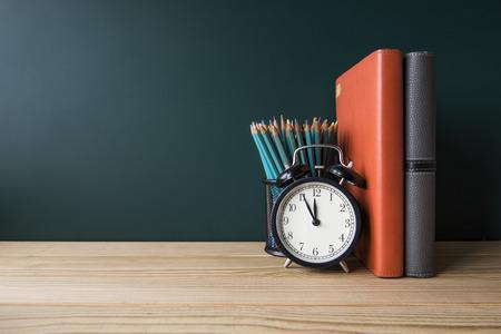 Concept of education or back to school on green background Reklamní fotografie