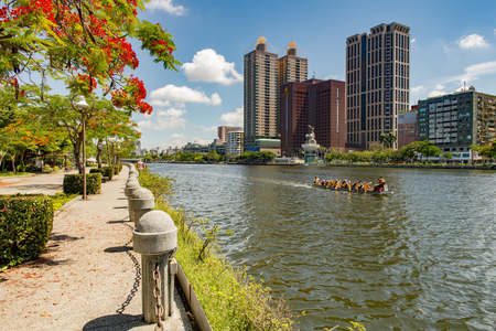 highroad: KAOHSIUNG, TAIWAN, 11 JULY 2015: Southern located in Taiwan, is a port city, has developed rapidly in recent years, many foreign visitors have come to play and 11 JULY 2015 in Kaohsiung.