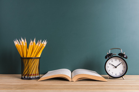 Concept of education or back to school on white background Stock Photo
