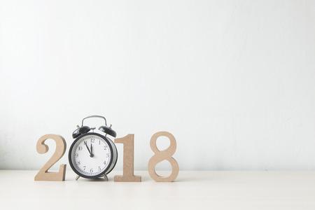Bonne année 2018 sur un fond blanc Banque d'images - 63489743