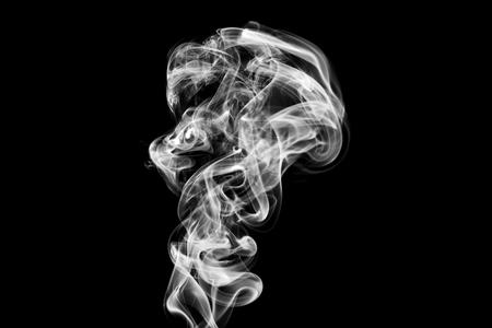 Fumo turbinii su sfondo nero. Archivio Fotografico - 64757470