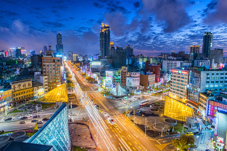 highroad: KAOHSIUNG, TAIWAN, 11 MAY 2014: Southern located in Taiwan, is a port city, has developed rapidly in recent years, many foreign visitors have come to play and 11 May 2014 in Kaohsiung. Editorial