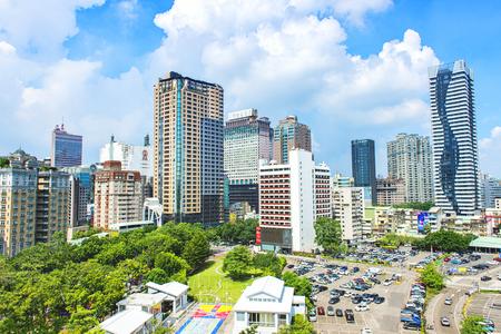 skyline of taichung city, taiwan