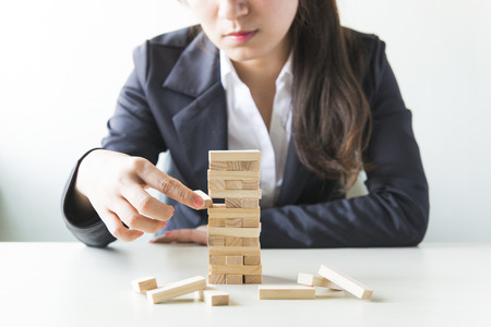 Business woman concept for growth success process. Stock Photo